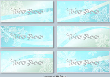 Winter banner - Free vector #199283
