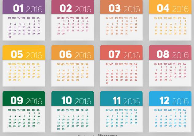 2016 kalender kostenloser vektor download 199293 cannypic. Black Bedroom Furniture Sets. Home Design Ideas