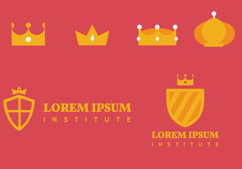 Crown Logo Vectors - vector gratuit #199303