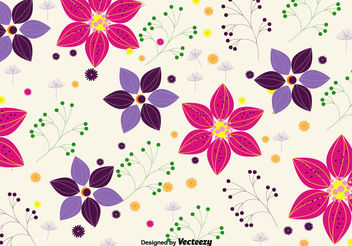 Spring flower background - Free vector #199333