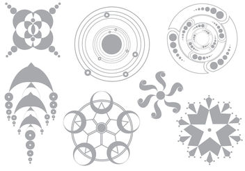 Simple Vector Crop Circles - Free vector #199413