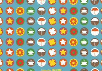 Autumnal icons pattern - vector gratuit #199443