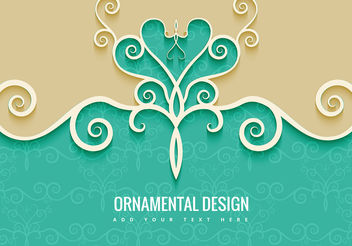 Ornamental Decorative Background - vector gratuit #199483