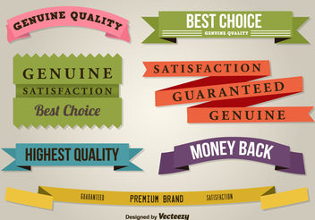 Best Quality Flat Ribbons - Free vector #199513