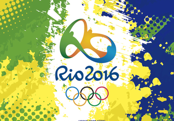 Rio 2016 logo and Background - Free vector #199613