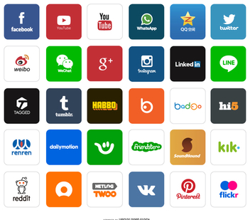 Social App icons and logos - vector #199723 gratis