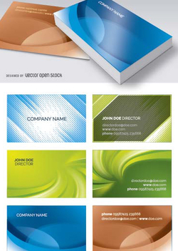 Abstract business cards templates - Free vector #199813