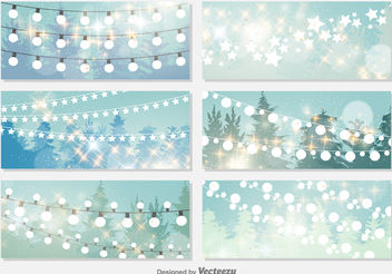 Christmas Lights Background - бесплатный vector #199843