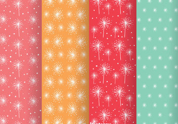 Abstract Colorful Girly Pattern Vectors - vector gratuit #199873
