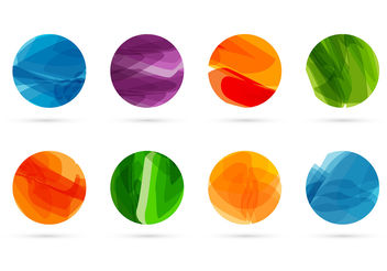 Abstract shapes vector - Free vector #199903