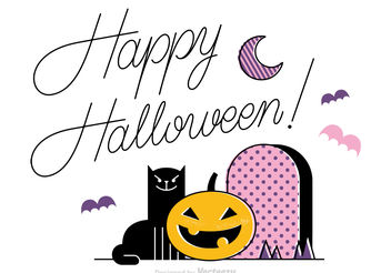 Free Happy Halloween Vector Background - vector gratuit #199913