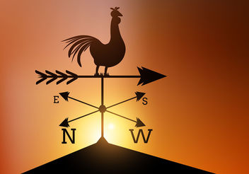 Weather Vane Vector - Free vector #199943