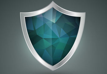Polygonal Shield Shape Vector - vector gratuit #199973
