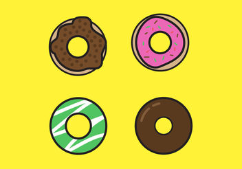 Sweet Donut Vectors - бесплатный vector #200013