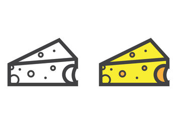 Triangular Cheese Vector - vector #200023 gratis