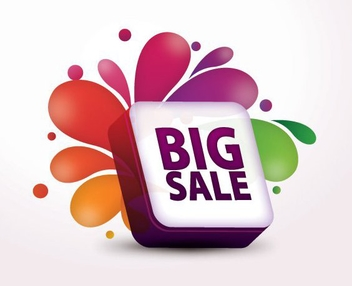 3D Splashed Big Sale Box - бесплатный vector #200033