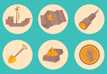 Treasure Icon Set - Free vector #200143