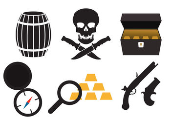 Pirate Icons - vector #200223 gratis
