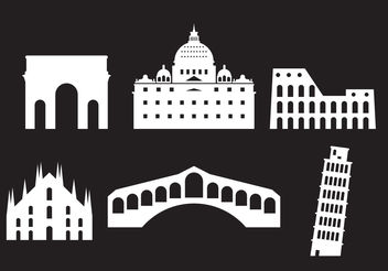 Landmarks of Italy - Kostenloses vector #200233
