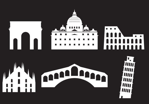 Landmarks of Italy - Free vector #200233