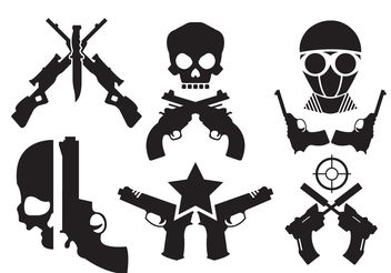 Crossed Gun Vectors - Free vector #200243