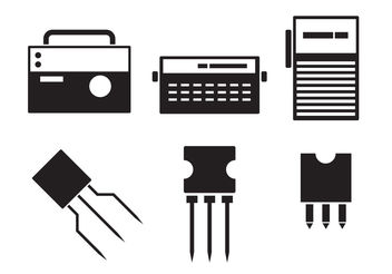 Icons of Electronics - Free vector #200253