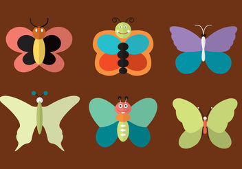 Butterfly Vectors - Free vector #200283