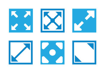 Full screen icon vectors - vector gratuit #200363