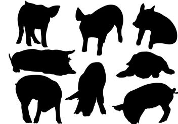 Free Pig Silhouette Vector - vector gratuit #200393