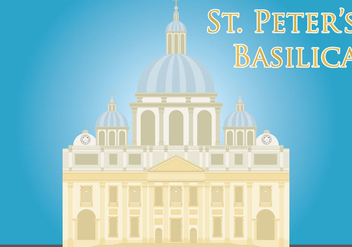 St Peters Basilica Vector - бесплатный vector #200553