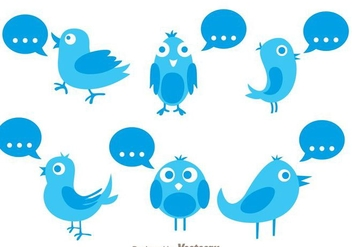Vector Twitter Bird With Quote - vector gratuit #200563