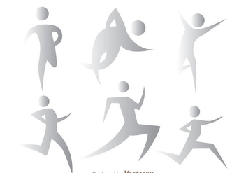 Gray Running Vectors - Free vector #200583