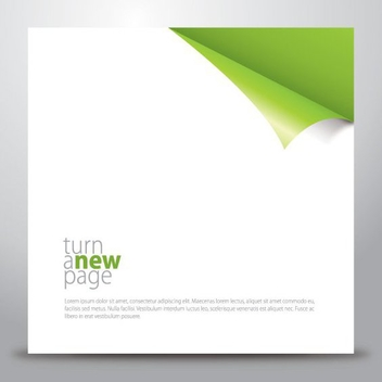 Flipped Edge New Page Background - Free vector #200643