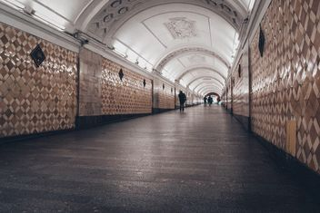 Tunnel at Moscow subway - бесплатный image #200733