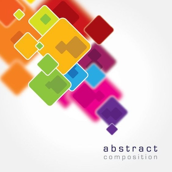 Multicolor Squares Abstract Background - vector gratuit #200773