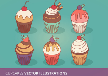 Cupcakes Vector Collection - Free vector #200843