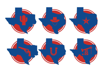 Texas Map Vectors - vector gratuit #200863