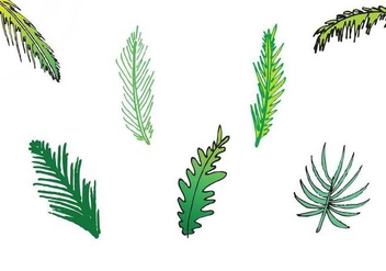 Free Palm Leaf Isolated Vector Series - Kostenloses vector #200873