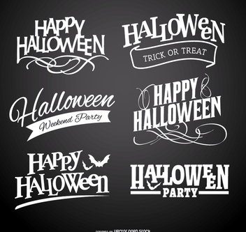 Happy Halloween Logo badges - бесплатный vector #200913