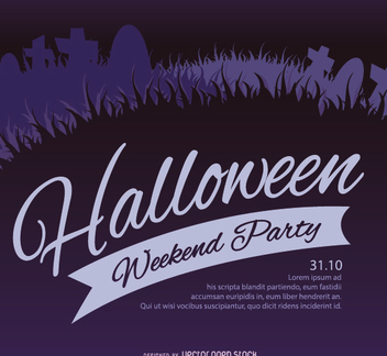 Halloween Graveyard Party Flyer - vector gratuit #200963