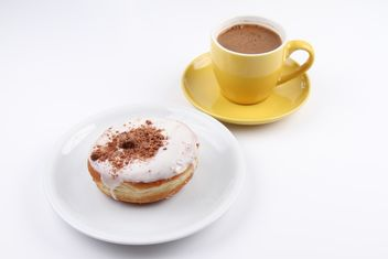 Donut and cup of Turkish Coffee - бесплатный image #201093