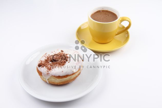 Donut and cup of Turkish Coffee - Free image #201093