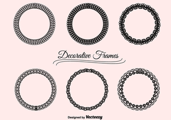 Vector Decorative Frames Set - vector gratuit #201193