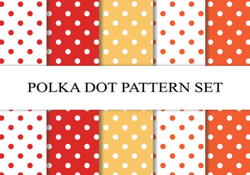 Polka Dot Pattern Set - бесплатный vector #201223