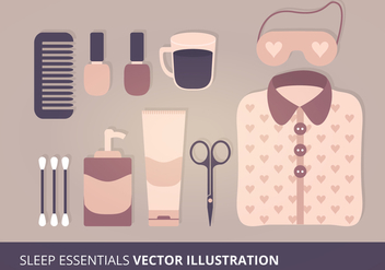 Sleep Essentials Vector Illustration - Kostenloses vector #201233