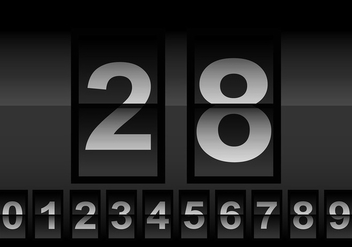 Number counter vector - Free vector #201283