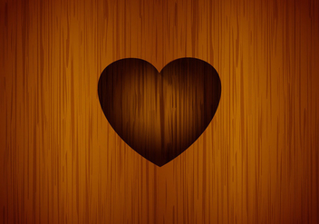 Heart carved tree vector background - Kostenloses vector #201313