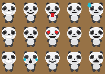 Panda Emoticon Vectors - бесплатный vector #201353