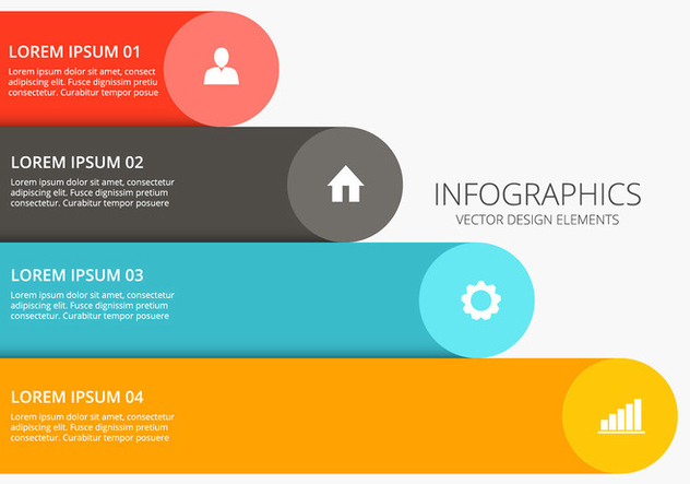 Colorful infographic design vector - Free vector #201373