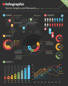 Minimal Colorful Infographic Set - vector gratuit #201413